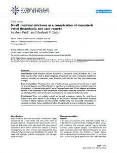 Small intestinal strictures as a complication of mesenteric vessel ...