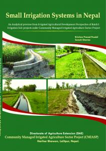 small irrigation systems in nepal - Directorate of Agricultural Extension