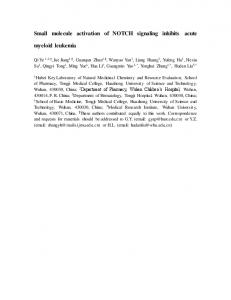 Small molecule activation of NOTCH signaling inhibits ...
