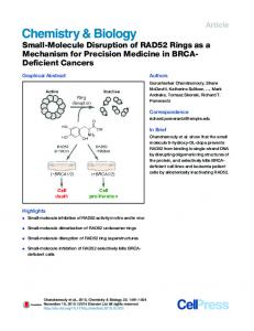 Small-Molecule Disruption of RAD52 Rings as a ...