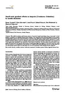 Small scale gradient effects on isopods (Crustacea ... - Springer Link