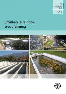 Small-scale rainbow trout farming - Food and Agriculture Organization ...