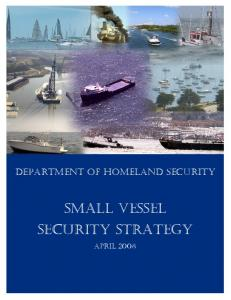 Small Vessel Security Strategy - Homeland Security