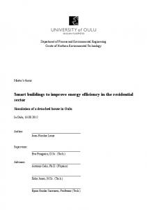 Smart buildings to improve energy efficiency in the residential sector