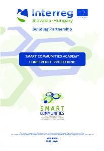 smart communities academy conference proceeding
