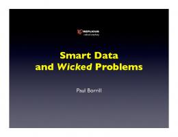 Smart Data and Wicked Problems