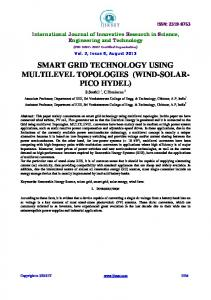 smart grid technology using multilevel topologies - IJIRSET