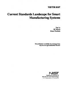 Smart Manufacturing Standards Landscape - NIST Page - National ...