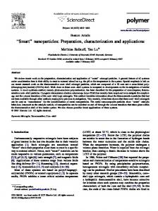 ''Smart'' nanoparticles: Preparation, characterization ...