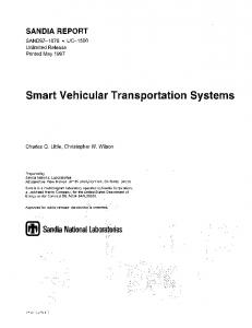 Smart Vehicular Transportation Systems