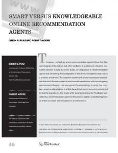 Smart versus knowledgeable online ... - Wiley Online Library