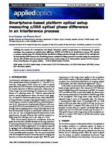 Smartphone-based platform optical setup measuring ... - OSA Publishing