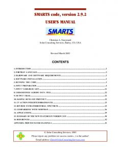SMARTS code, version 2.9.2 USER'S MANUAL
