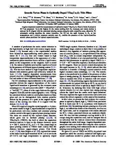 Smectic Vortex Phase in Optimally Doped YBa ... - APS Link Manager