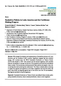 Smokefree Policies in Latin America and the Caribbean - CiteSeerX