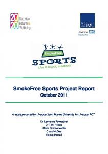 SmokeFree Sports Project Report