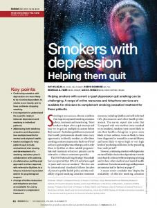 Smokers with depression. Helping them quit