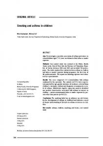 Smoking and asthma in children - CiteSeerX