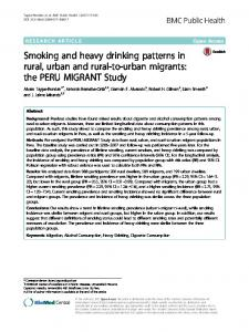Smoking and heavy drinking patterns in rural
