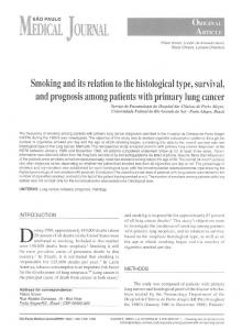 Smoking and its relation to the histological type, survival ... - CiteSeerX