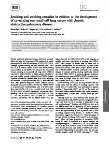 Smoking and smoking cessation in relation to the development of ...