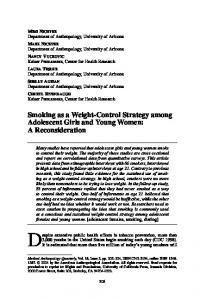 Smoking as a Weight-Control Strategy among ... - Wiley Online Library