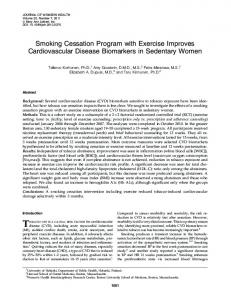 Smoking Cessation Program with Exercise Improves Cardiovascular ...