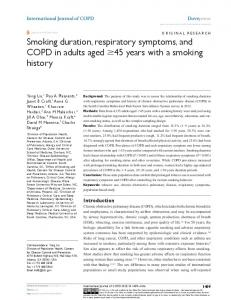 smoking duration, respiratory symptoms, and COPD in ... - CiteSeerX