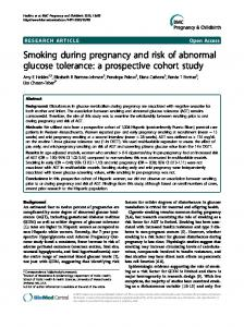 Smoking during pregnancy and risk of abnormal ... - ScienceOpen