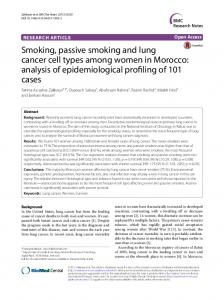 Smoking, passive smoking and lung cancer cell types ... - Springer Link