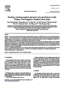 Smoking, smoking cessation and aortic arch calcification in older ...