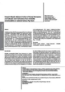 Smooth Muscle Relaxant Action of Benzyl Benzoates