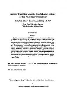 Smooth Transition Quantile Capital Asset Pricing Models with ... - SSRN