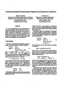 Smoothing Methods for Mathematical Programs with Equilibrium