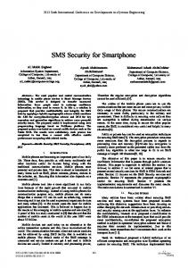 SMS Security for Smartphone - IEEE Xplore