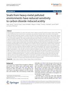 Snails from heavy-metal polluted environments have ... - CiteSeerX