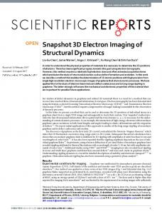 Snapshot 3D Electron Imaging of Structural Dynamics