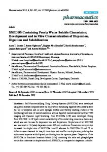 SNEDDS Containing Poorly Water Soluble ... - Semantic Scholar