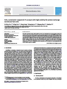 SnO2 nanocluster supported Pt catalyst with high stability ... - CiteSeerX