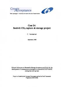 Snohvit CO2 capture & storage project - Esteem
