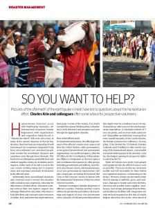 SO YOU WANT TO HELP? - The BMJ