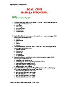 SOAL CPNS BAHASA INDONESIA - WordPress.com
