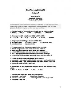 SOAL LATIHAN KIMIA - WordPress.com