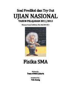 Soal Try Out UN 2012 SMA FISIKA Paket 12