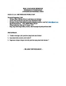 SOAL UJIAN AKHIR SEMESTER PROGRAM D-IV ... - WordPress.com