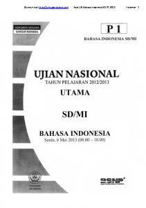 Soal UN Bahasa Indonesia SD P1 2013 - WordPress.com