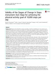 (SoC-Step) for achieving the physical activity goal of ...