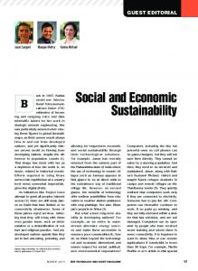 Social and Economic Sustainability - IEEE Xplore