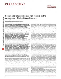 Social and environmental risk factors in the emergence of infectious ...