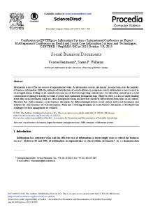 Social Business Documents (PDF Download Available)